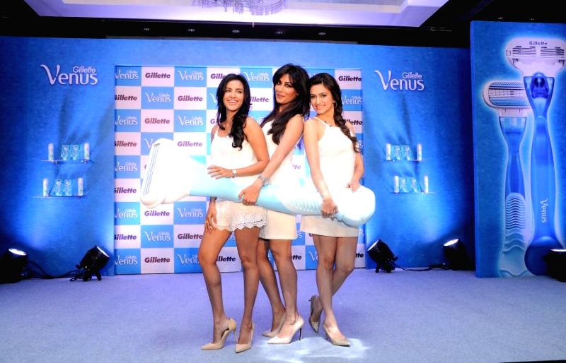 Actresses Priya Anand, Chitrangada Singh and Kriti Kharbanda during a promotional event in Bangalore on Aug 8, 2014. - Priya Anand and Kriti Kharbanda
