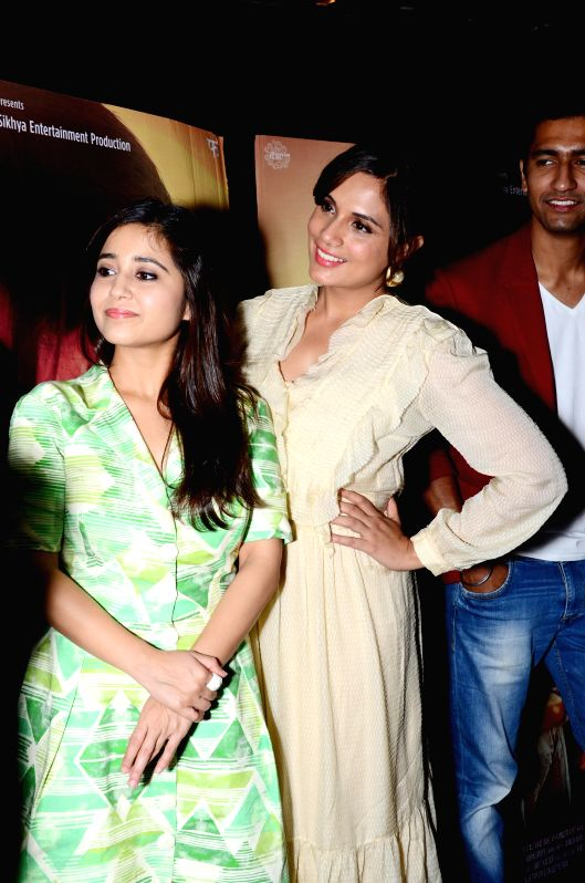 Actresses Richa Chadda and Shweta Tripathi during a press conference to promote her upcoming film `Massan` in Ahmedabad on July 17, 2015. - Richa Chadda and Shweta Tripathi