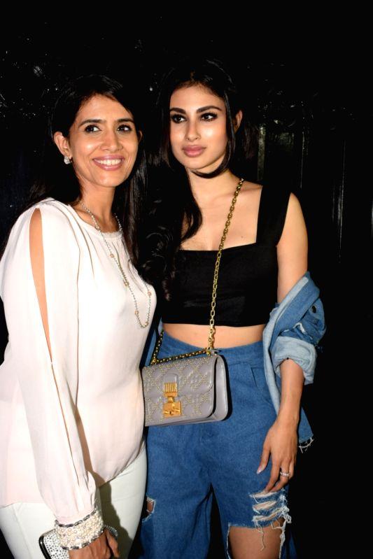 "Actresses Sonali Kulkarni and Mouni Roy at the producer Ekta Kapoor's party post web series ""The Test case"" screening in Mumbai on Jan 29, 2018. - Sonali Kulkarni, Mouni Roy and Ekta Kapoor"