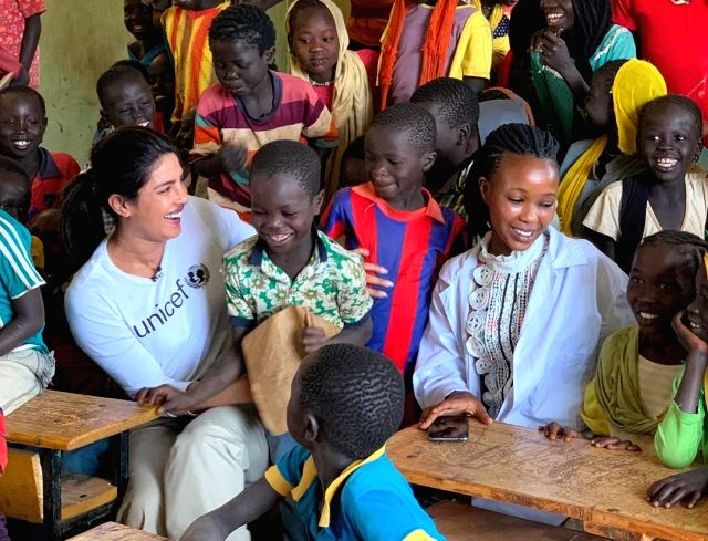 After enthralling fans with her fashion game at the Cannes Film Festival 2019, actress Priyanka Chopra Jonas is currently in Ethiopia spending time with refugee children