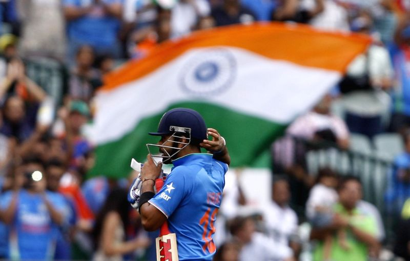 Indian cricketer Virat Kohli during an ICC World Cup 2015 match between India and Pakistan at Adelaide Oval in Adelaide, Australia on Feb 15, 2015. - Virat Kohli