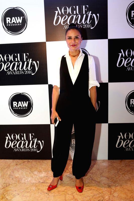 Adhuna Bhabani at the Vogue Beauty Awards, 2016 at Taj Lands End, in Mumbai on July 27, 2016.