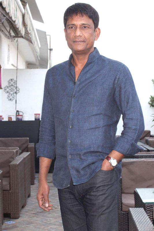 """Adil Hussain at a press meet for upcoming film """"'ZED PLUS'"""" in New Delhi on November 21,2014"""