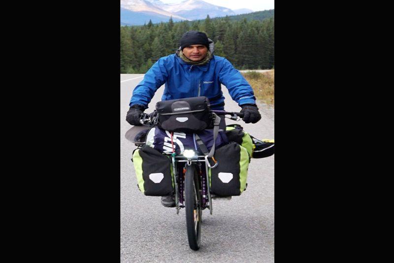 Adventure cyclist-author Dhruv Bogra.