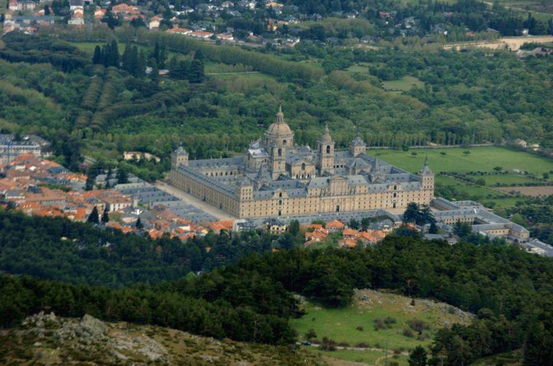 Aerial view of San Lorenzo de El Escorial Monastery. EFE J.L. Pino