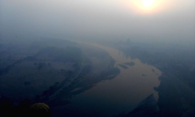Aerial view of the Yamuna