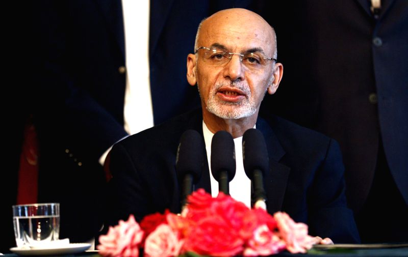 Afghan President Mohammad Ashraf Ghani speaks during a press conference in Kabul, Afghanistan, Aug. 10, 2015. Mohammad Ashraf Ghani said Monday in a strong voice that ...
