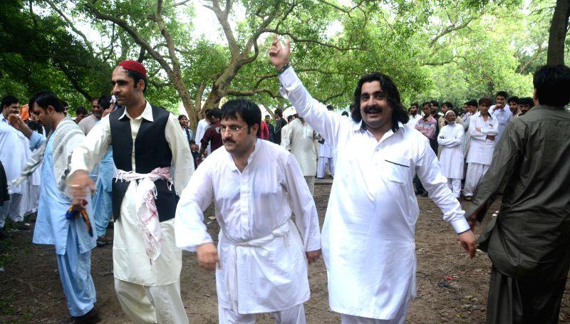 Afghans celebrate Eid-ul-Fitr in Kolkata, on July 19, 2015.