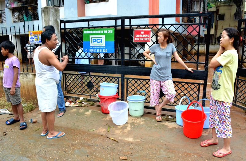 After 36 hrs the local administration came to the help of residents of waterlocked areas and distributed free drinking water in those areas but one wonders if this exercise is also limited to some ...
