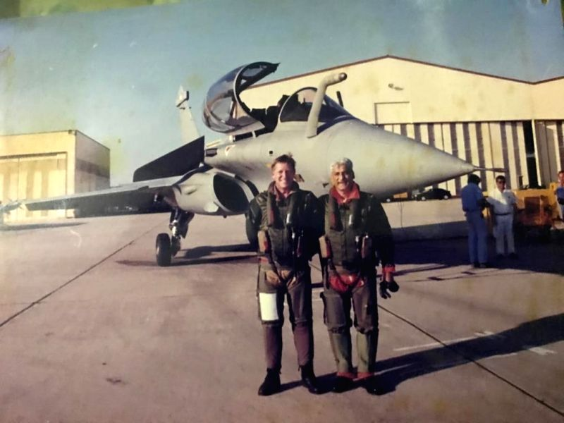 After flying in a sortie in the Rafale as Chief