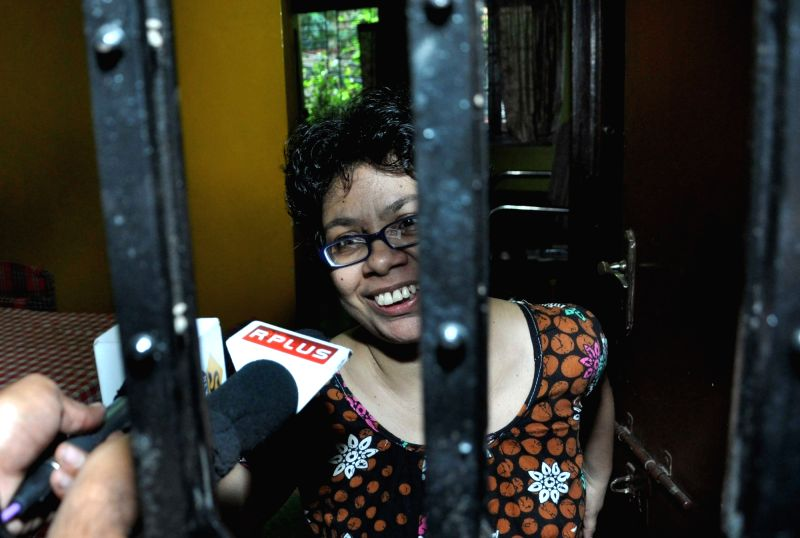 Agnes D`Souza, sister of Indian aid worker Judith D`Souza who was abducted in Afghanistan, meet the media at her residence in Kolkata on July 23, 2016.  Judith D`Souza has been rescued and ...