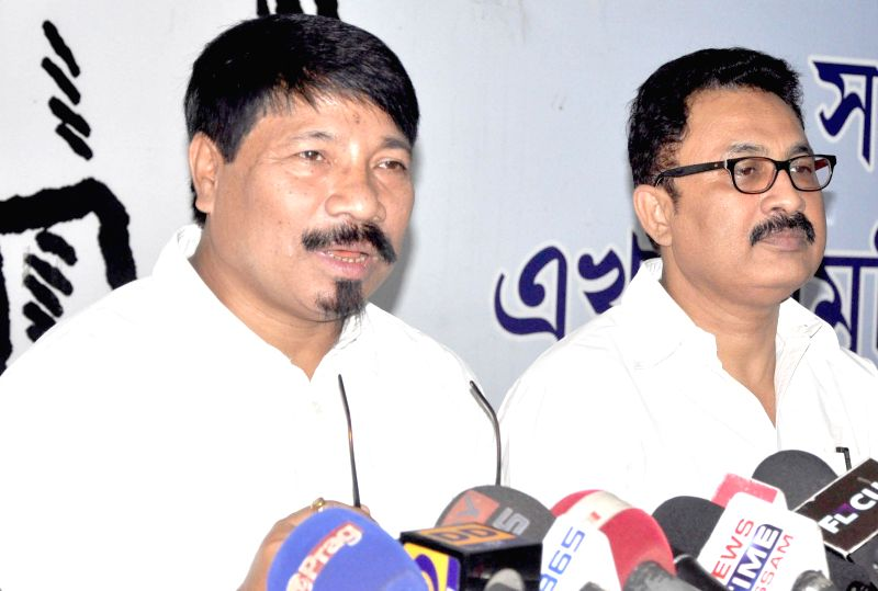 AGP working president Atul Bora addresses a press conference in Guwahati on July 18, 2014.