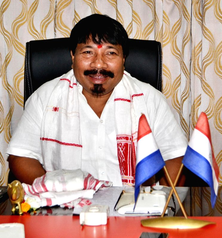 AGP working president Atul Bora takes charge at AGP head-office in Guwahati on July 17, 2014.
