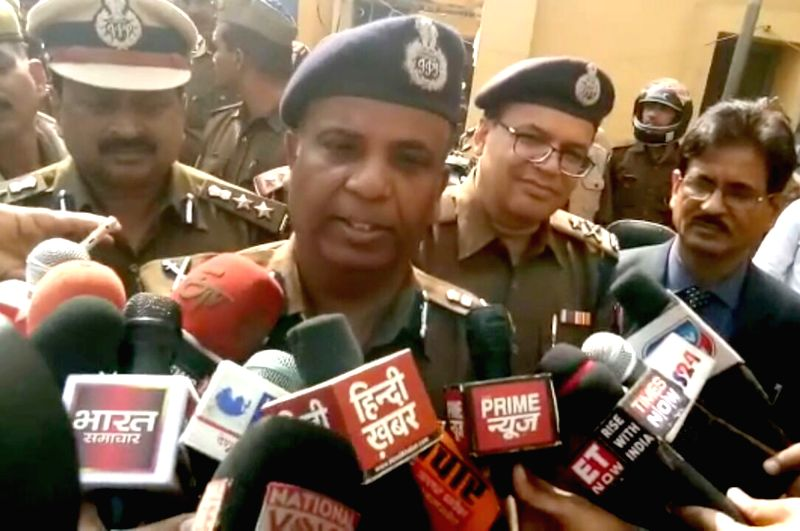 Agra Additional Director General of Police (ADGP) Ajay Anand talks to press regarding the arrest of prime accused in the murder of 23-year-old Abhishek Gupta alias Chandan during communal ... - Abhishek Gupta