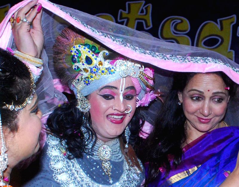 BJP MP from Mathura actress Hema Malini during a programme in Agra on March 17, 2015.