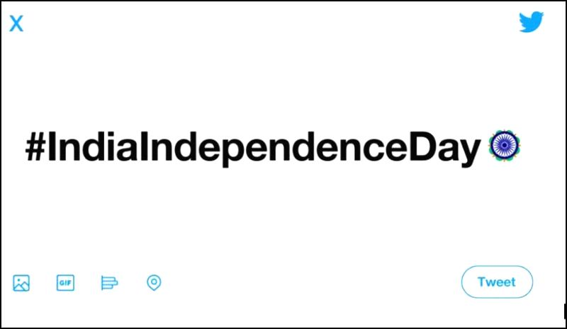 Ahead of India's 73rd Independence Day on August 15, Twitter on Wednesday launched a customised Independence Day emoji of the Ashoka Chakra.