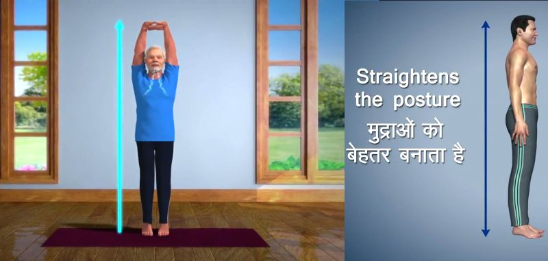 Ahead of the International Day of Yoga on June 21, Prime Minister Narendra Modi on Thursday tweeted a video of his animated version performing the 'tadasana'
