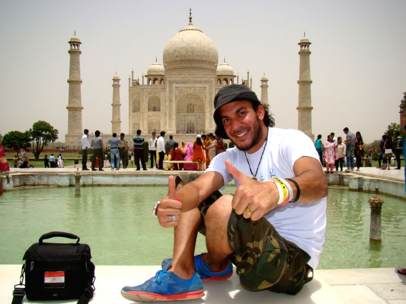 Ahmed Haggagovic at Taj Mahal.