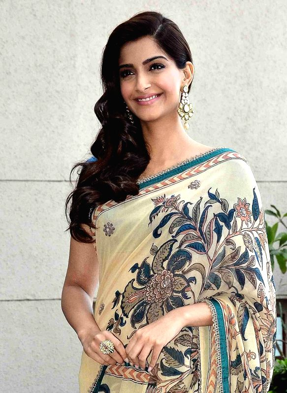 Bollywood actress Sonam Kapoor during an event to promote her film 'Dolly di Doly' in Ahmedabad on Jan. 17, 2015. - Sonam Kapoor