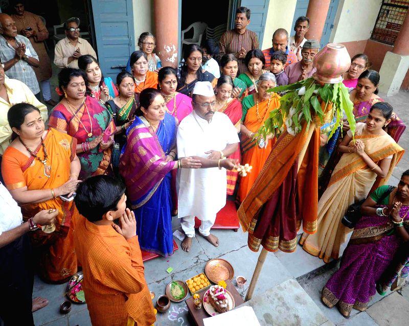 Marathis celebrate Gudi Padwa in Ahmedabad, on March 21, 2015.