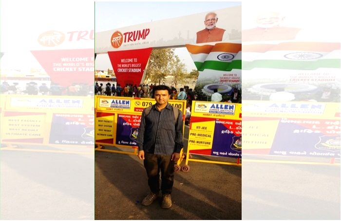 Ahmedabad's 'Namaste Trump' mood attracted outsiders too.