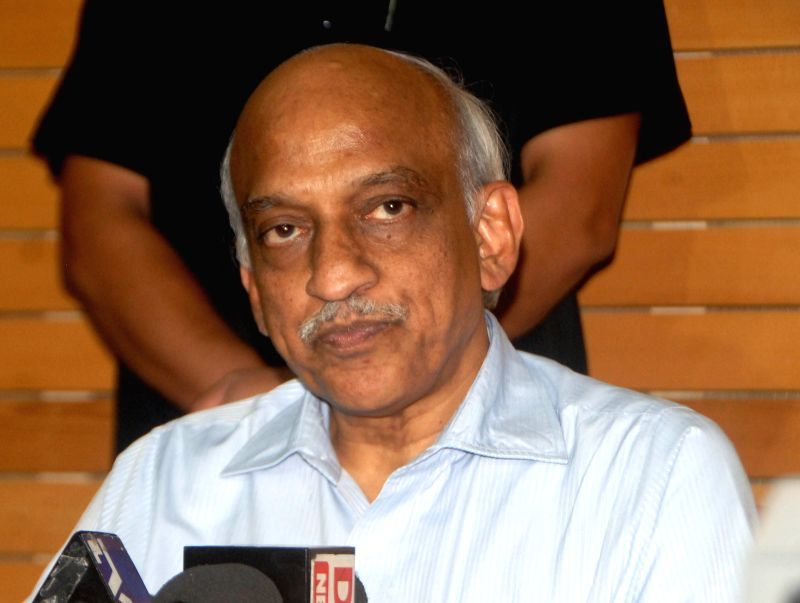 The newly appointed ISRO Chairman AS Kiran Kumar talks to press in ​​Ahmedabad, on June 16, 2015.