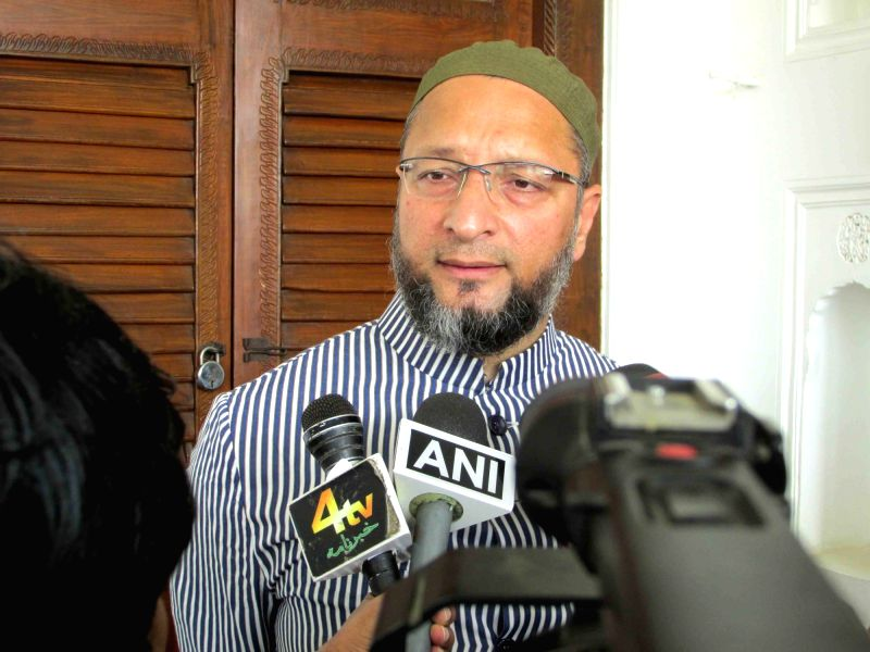 AIMIM chief Asaduddin Owaisi addresses a press conference, in Hyderabad on July 17, 2018.
