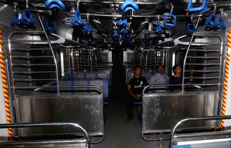 Air-conditioned Mumbai local train.