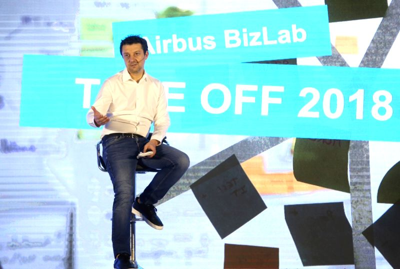 Airbus BizLab Head Bruno Gutierres during Airbus BizLab's start-up acceleration programme 'TAKE OFF 2018' in Bengaluru on July 13, 2018.