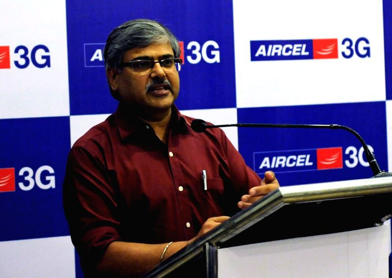 Aircel Regional Business Head North Anil Gupta during the announcement of Aircel's new tariff plans in Kolkata, on July 26, 2016.