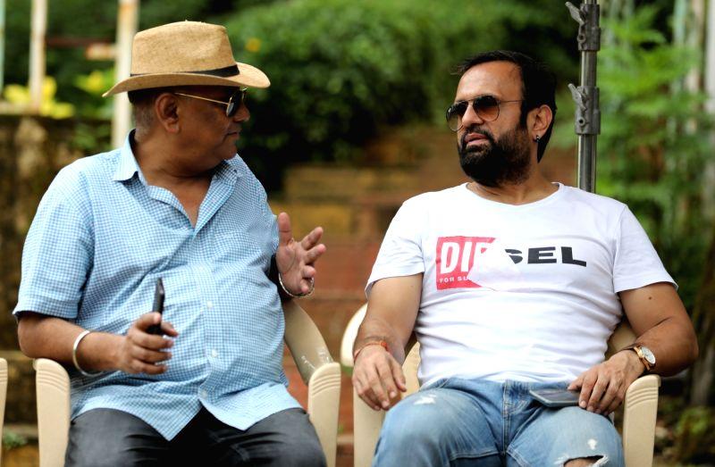 Ajay Jaswal with Dj Sheizwood.