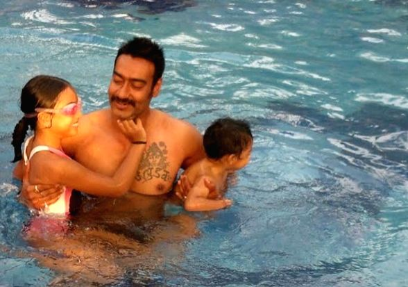 Ajay Devgn tattoo on his chest