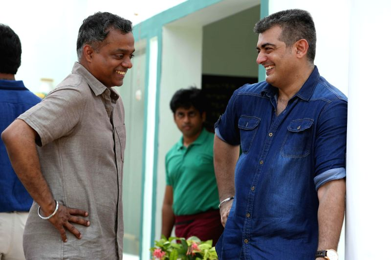 Ajith Kumar and the Director Gautham Vasudev Menon were seen sharing a lighter moment in the sets of the untitled film produced by Sri Sathya Sai Movies. The shooting commenced in Chennai with ... - Gautham Vasudev Menon