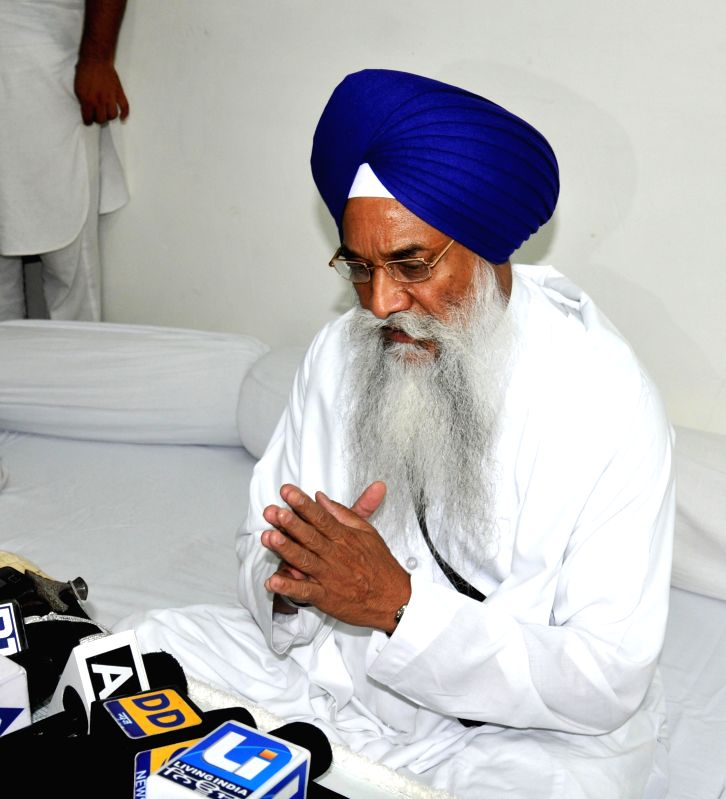 Akal Takht Jathedar Giani Gurbachan Singh directing all the concerned Sikh organizaitons and parties to cancel their scheduled Panthic conventions in wake of Saharanpur incidents at Amritsar on on ...