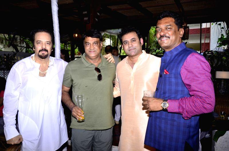 Akbar Khan, Nitin Kenny, Joe Rajan and Pratap Sarnaik  at Akbar Khan`s residence during a Get-together, in Mumbai, on July 22, 2016. - Akbar Khan