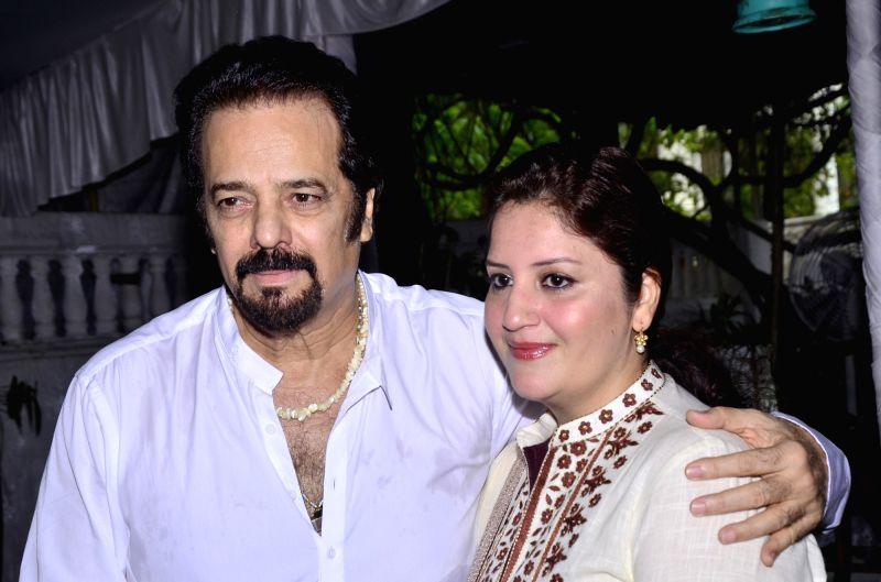 Akbar Khan with friend  at Akbar Khan`s residence during a Get-together, in Mumbai, on July 22, 2016. - Akbar Khan