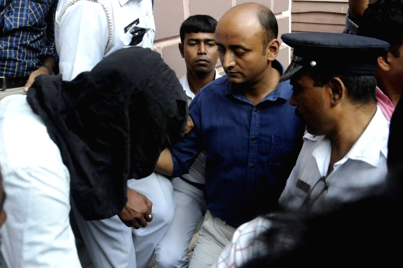 Akhtar Khan a suspected ISI agent being produced at a court in Kolkata on Nov 15, 2015. - Akhtar Khan