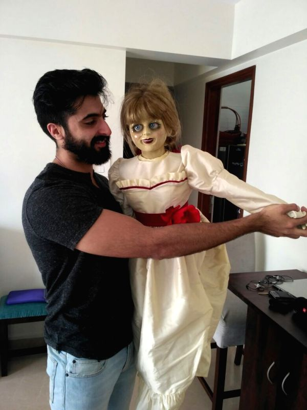 Akshay Oberoi and Nakuul Mehta with Annabelle