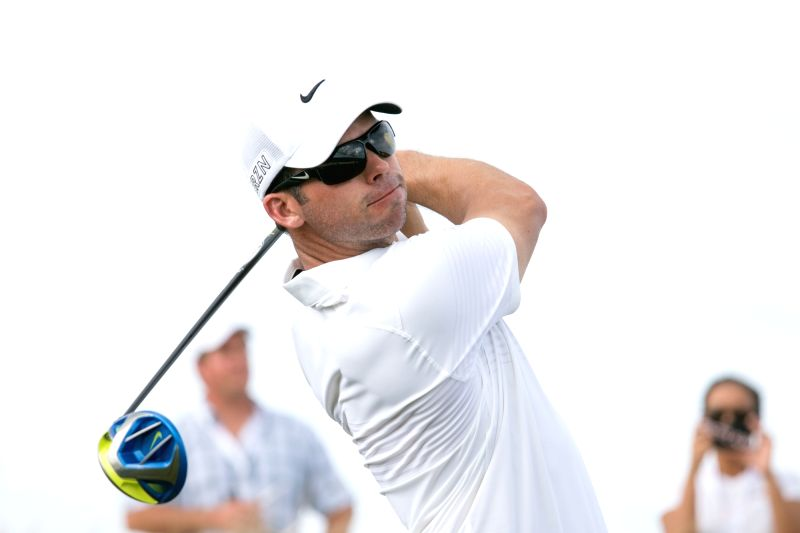 Albany (Bahamas): English golfer Paul Casey on the third day of the 2015 Hero World Challenge in Albany, Bahamas on Dec 5, 2015.