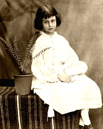 "Alice Pleasance Liddell, to whom the story that became ""Alice in Wonderland\"" was narrated, at the age of seven"
