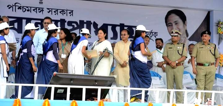 West Bengal Chief Minister Mamata Banerjee during a programme in Alipurduar of West Bengal on April 1, 2015. - Mamata Banerjee