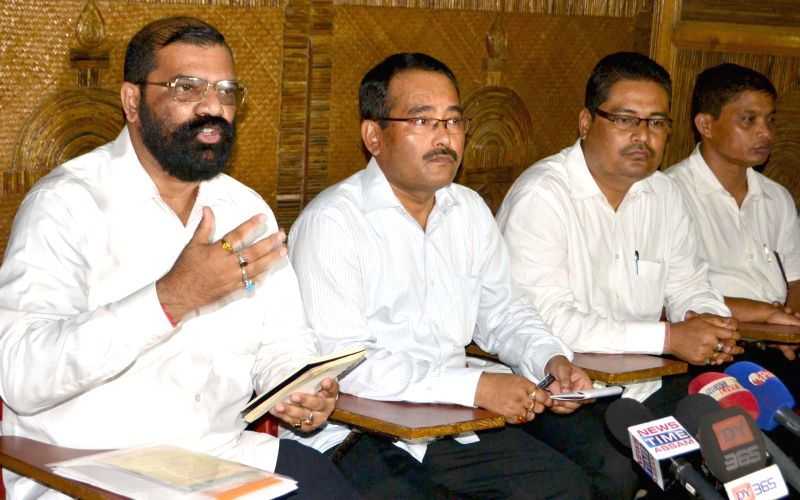 All Assam Students Union (AASU) Advisor Samujjal Bhattacharya during a press conference in Guwahati on Aug 29, 2014.