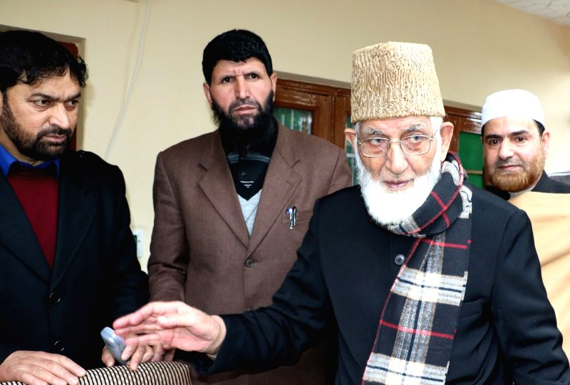 All Parties Hurriyat Conference chairman Syed Ali Geelani returns back to Srinagar from Delhi after two months of medical treatment on April 6, 2016.