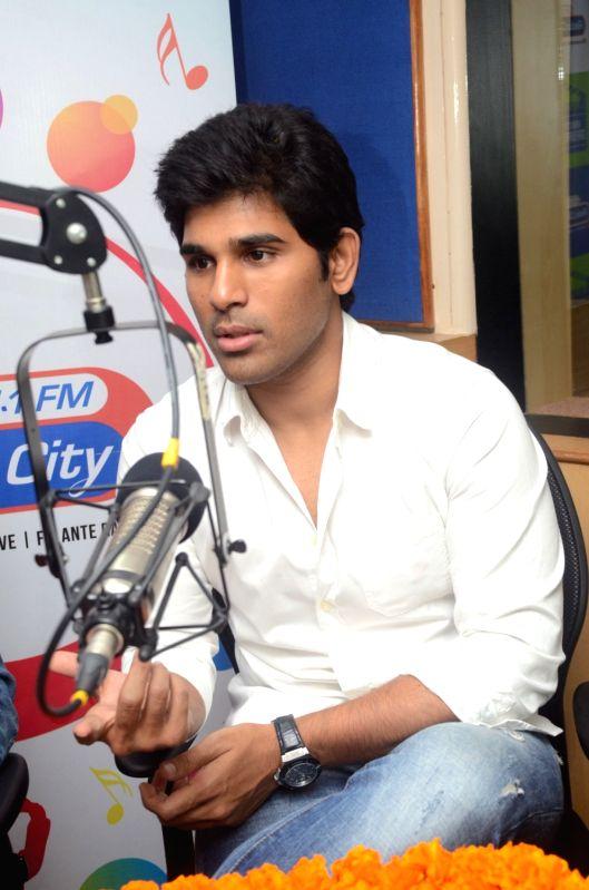 Allu Sirish, Lavanya Tripati Promoting Srirastu Subhamastu Movie at Radio Mirchi.