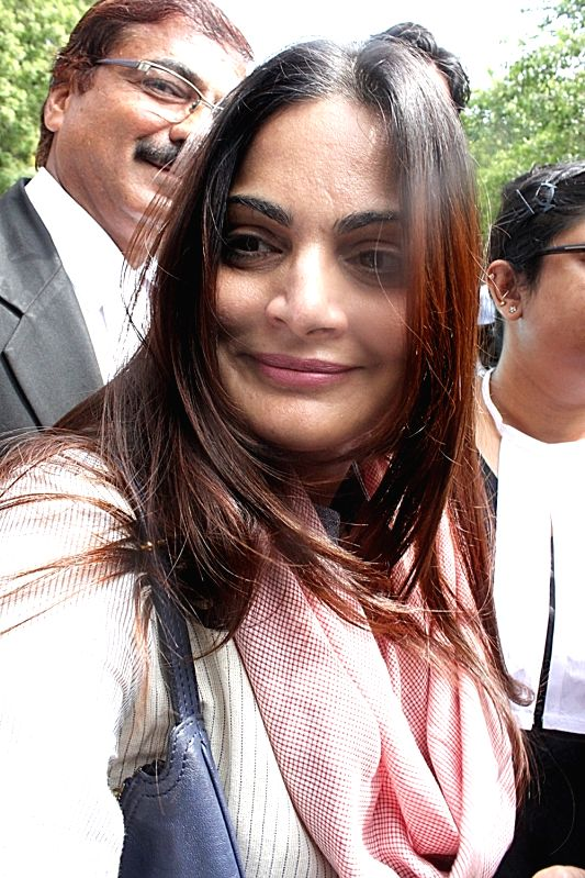 Alvira Khan, sister of actor Salman Khan at the Rajasthan High Court where actor Salman Khan has been acquitted of Jodhpur blackbuck and chinkara poaching cases; in Jodhpur on July 25, 2016. ... - Salman Khan and Alvira Khan