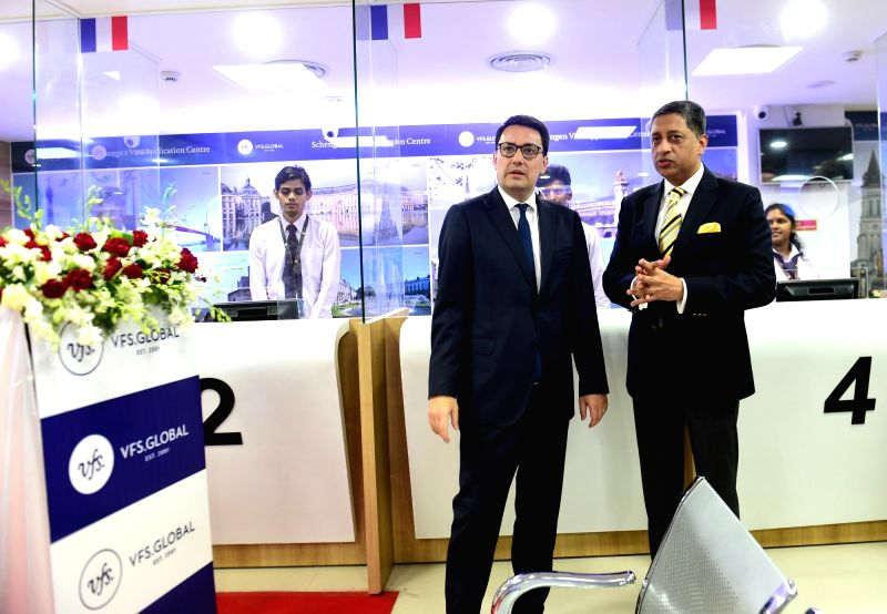 Ambassador of France to India Alexandre Ziegler with VFS Global COO (South Asia and Middle East) Vinay Malhotra during inauguration of French Visa Application Centre in Bengaluru on May ... - Vinay Malhotra