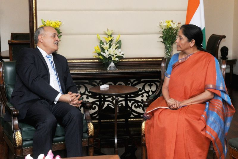 Ambassador of Morocco to India Mohamed Maliki calls on Union MoS for Commerce and Industry Nirmala Sitharaman in New Delhi on May 15, 2017. - Malik