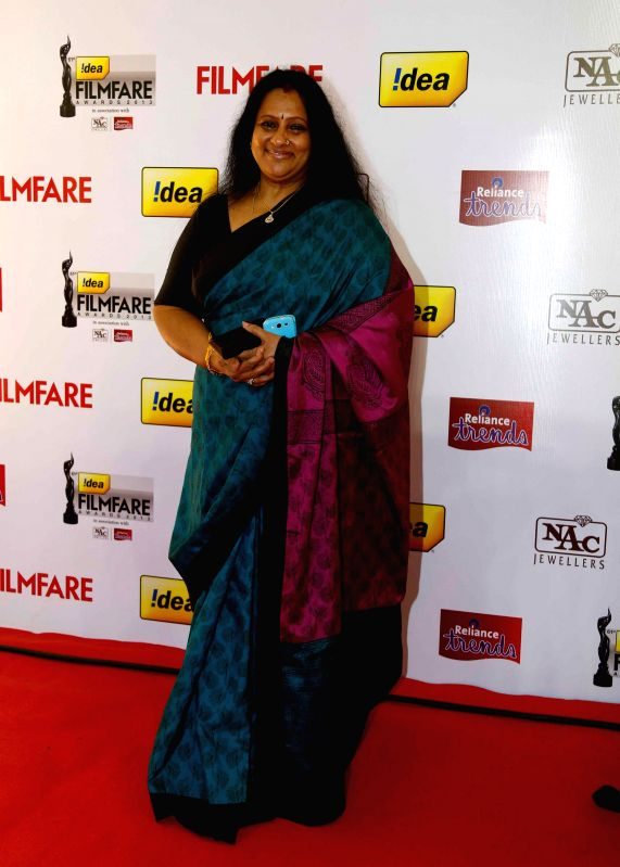 Ambika at the `61st Idea Filmfare South Awards 2013` held in Chennai at Nehru Stadium.