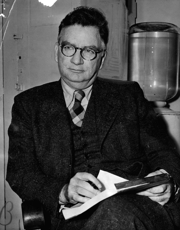 American author James M Cain, who pioneered the crime noir subgenre of crime fiction.