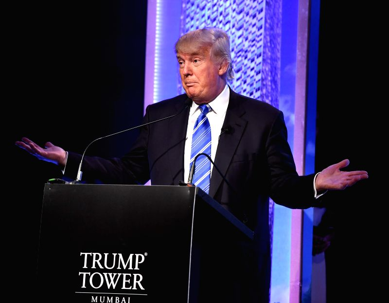 American Businessman Donald J Trump during a press conference regarding `Trump Tower` in Mumbai on Aug 12, 2014.